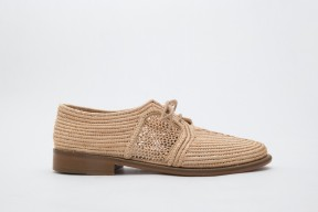 Product photo of Raphia shoe Chebka Leather Sole in the color Natural
