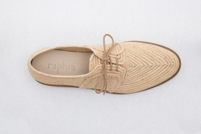 Product photo of Raphia shoe Stura Leather Sole in the color Natural